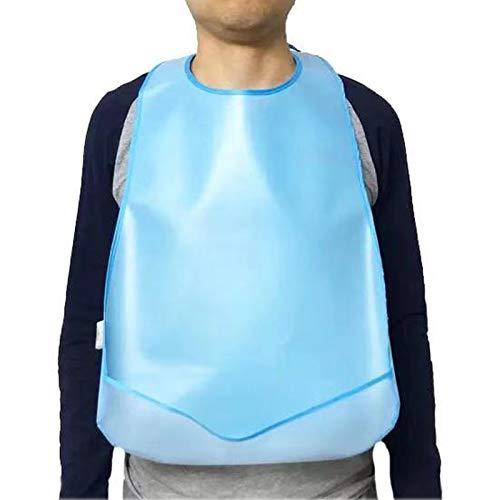 2 Piezas Babero Adulto Silicona Impermeable Lavable Reutilizable,Baberos Adultos con Bolsillo Recogemigas Divertido,Adultos Ropa Protector Alimentación Comer