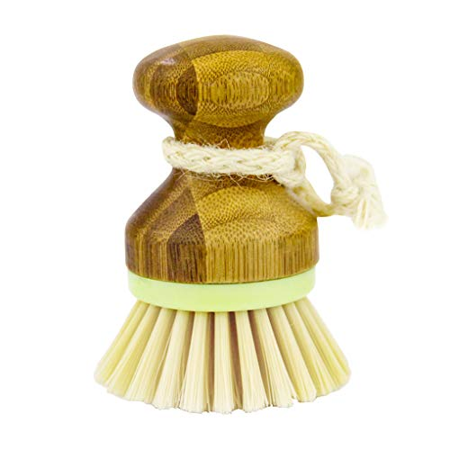 rongweiwang Cepillo de Lavado para Lavar Platos de Cocina la vajilla para de bambú Plato Scrub depurador Herramienta para quemadores Pot Fregadero utensilio