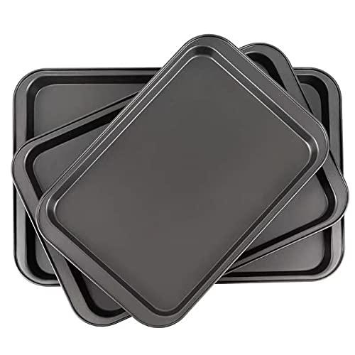 CAKALETRY Bakeware Set, Baking Sheet Pans Cookie Sheet, Nonstick Bakeware Cookie Pan Set, 3 – Pieces Baking Pan for Oven.