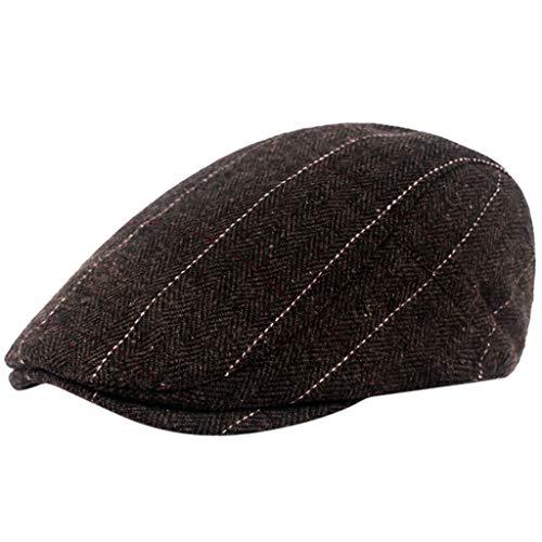 2 pcs Classic Headgear Winter Hat for Women & Men, Herringbone Newsboy Cap for Men, Flat Cap, Ivy Hat, Gatsby Hat