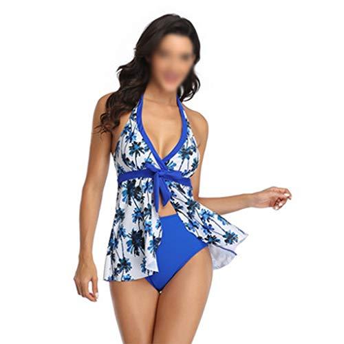 Badeanzug Mode Bademode Neue Bikini-Druck-Rock Posing Bikini (Farbe : D, Größe : S)