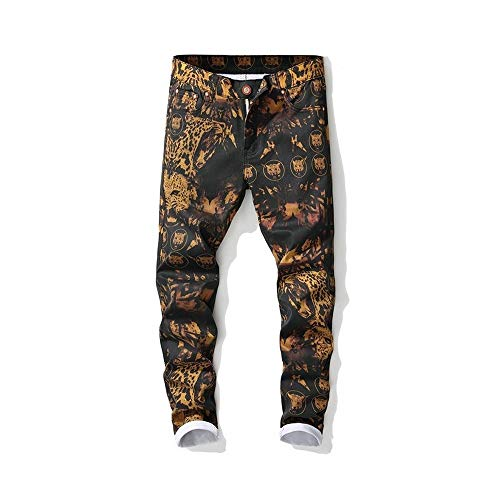 LNLW Gedrukt Skinny Jeans casual broek, Heren Broeken, Slim Fit, Broek, Fashion (Size : 32)