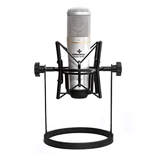Microphone Desk Stand with Shock Mount | Heavy Duty Stand for any Condenser microphone with M22x1 thread