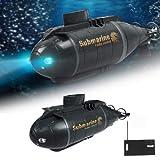 RC Glowing Smart Electric U-Boot-Boot, Verschiedene Bewegungsstunts, Ferngesteuertes Schiff Mit Licht, Hoch Simuliertes Tauchspielzeug Für Kinder, Einfach Zu Steuern, Bestes Geschenk
