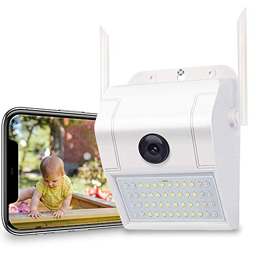 Outdoor Home Security Camera - 1080P 2.4G WiFi Night Vision Camera with LED Motion Sensor Light,Two-Way Audio,Cloud Storage,IP66 Waterproof,Motion Detection,Activity Alert, Deterrent Alarm