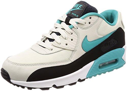 Nike Air Max 90 Essential, Chaussures de Gymnastique Homme, Beige (Light Bone Sport Turqblackwh 001), 47 EU