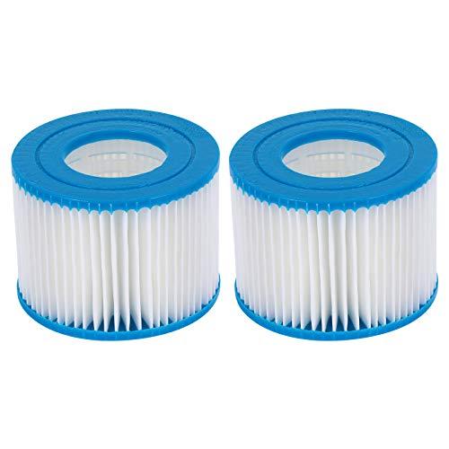ABOOFAN Cartucho de filtro de elementos de filtro de repuesto de piscina de acrílico 2pcs para piscina
