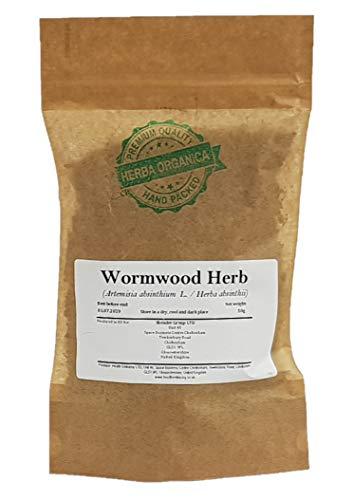Wermutkraut / Artemisia Absinthium L / Wormwood Herb # Herba Organica # Echt-Wermut, Bitterer Beifuß, Alsem (50g)