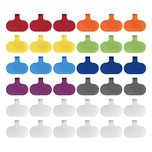 Cable Labels by Wrap-It Storage, Regular, Multi-Color (36 Pack) - Write On Cord Labels, Wire Labels, Cable Tags and Wire Tags for Cable Management and Organizer for Electronics, Computers and More