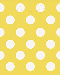 "Latex Polka Dot Balloons, 12"", Yellow, 6 Count (B01M35D7ON) 
