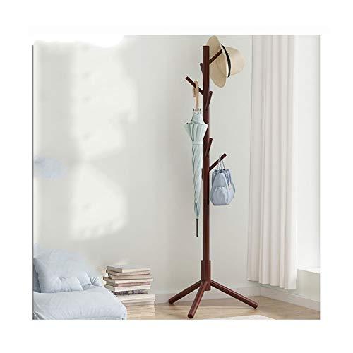 LICHUAN Perchero Pastel de Madera de Cubierta de Madera, árbol de Abrigo de vestíbulo, árbol de Abrigo con 8 Ganchos, para Ropa de hogar u Oficina, Bufandas Fácil Montaje (Color : B)