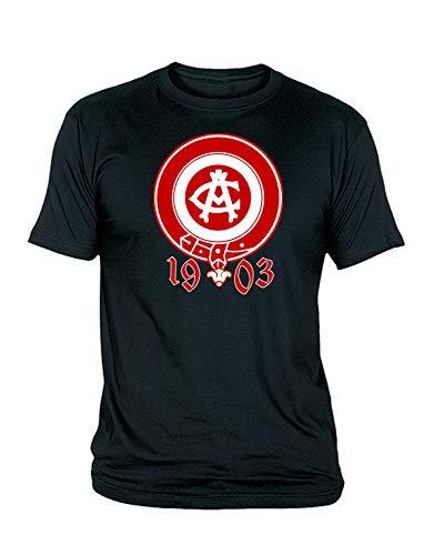 Camiseta Hombre del ATLÉTICO DE Madrid Escudo ATM 1903 Rojo (Negra, L)