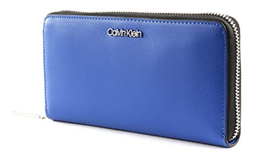 Calvin Klein Ck Must Large Ziparound - Borse a tracolla Donna, Blu (Montana...