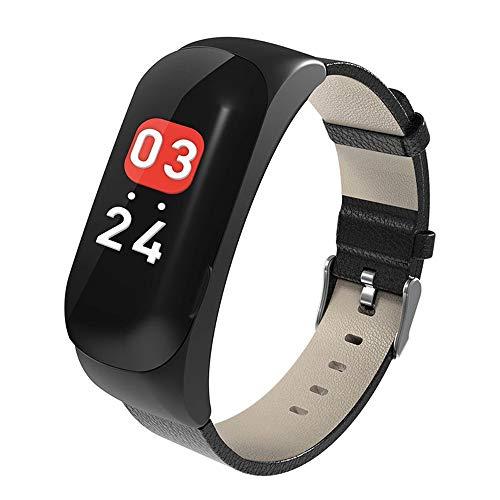 Lbyhning Fitness Armband, Fitness-Tracker-Bluetooth-Uhr-Kopfhörer 2 in 1, Herzfrequenz-Monitor, schlanke Sportaktivität-Tracker-Uhr, wasserdichter Schrittzähler mit Schlafmonito