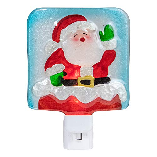 """6"""" Red and White Santa Claus Christmas Night Light"""