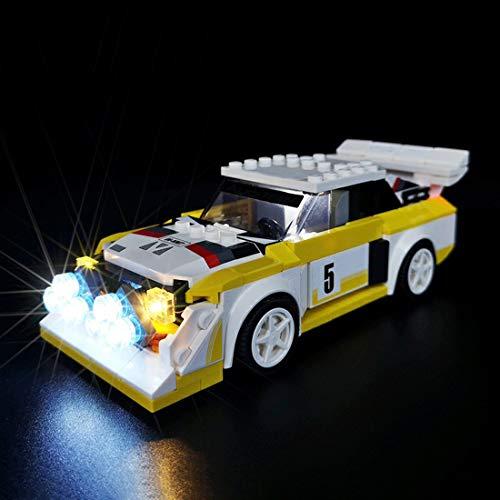 SEREIN Juego de iluminación LED para campeones Lego Speed Champions 1985 Audi Sport Quattro S1, con conexión USB, compatible con Lego 76897 (no incluye juego de Lego)