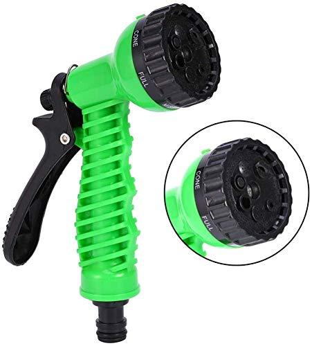 Multifunctionele tuinslang mondstuk huishoudelijke sproeier auto wassen douchegel hoge druk waterpistool mondstuk spuitpistool Green18.4 * 5cm dljyy