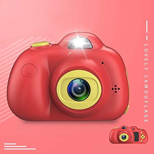 luoshan Lin KOOOL-D6 Dual 800W Lente de píxeles Cámara Digital Deportiva pequeña con Pantalla de 2.0 Pulgadas for niños, sin Memoria (Rosa) (Color : Red)