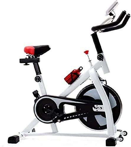 Bicicleta de ejercicio vertical ultra silenciosa interior spinning bicicleta ejercicio ejercicio ejercicio fitness entrenador spin familia spin (color: blanco)