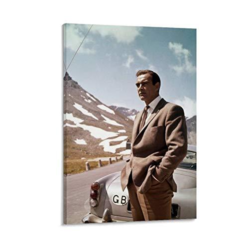 NQSB Film Stars Sean Connery 007 James Bond 1 Poster decorativo su tela da parete per soggiorno, camera da letto, 30 x 45 cm