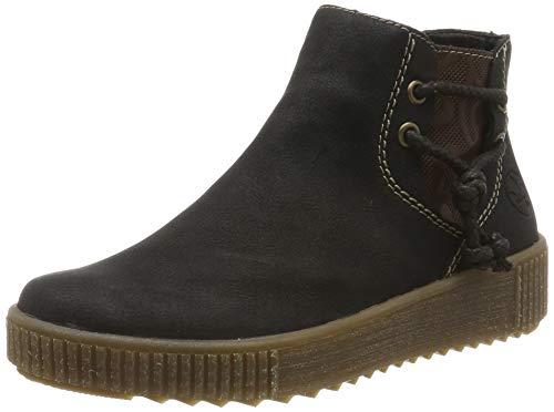 Rieker Damen Y6462 Chelsea Boots, Schwarz (schwarz/Brown / 00 00), 38 EU