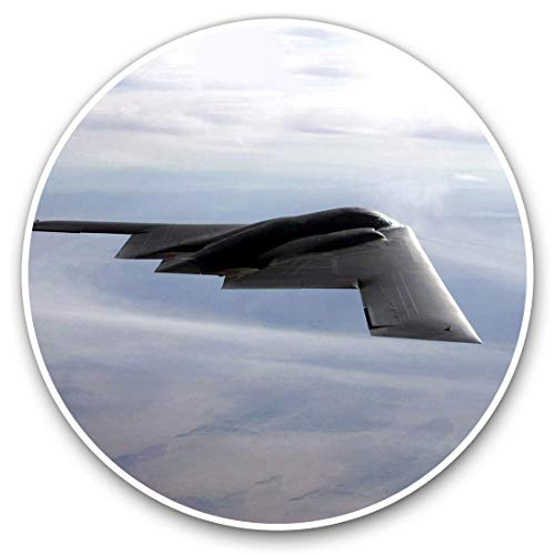 2 x Heart Stickers 10 cm - Stealth US B2 Bomber Plane Jet Fun Decals for Laptops,Tablets,Luggage,Scrap Booking,Fridges #14382