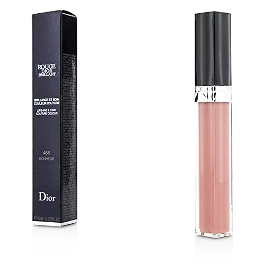 香水去る期限切れクリスチャンディオール Rouge Dior Brillant Lipgloss - # 468 Bonheur 6ml/0.2oz並行輸入品