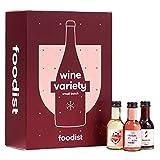 Foodist Wein Adventskalender 2021 - Mini Tasting-Flaschen (24 x 100ml) mit Alkohol als besonderes Geschenk-Set zum Probieren für erwachsene Weinliebhaber und Vino-Fans