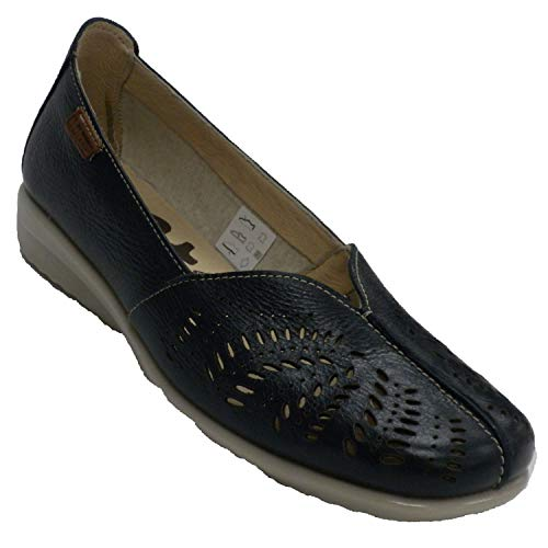 Zapato Descanso Mujer Cerrado Calado 48 Hours en Azul Marino