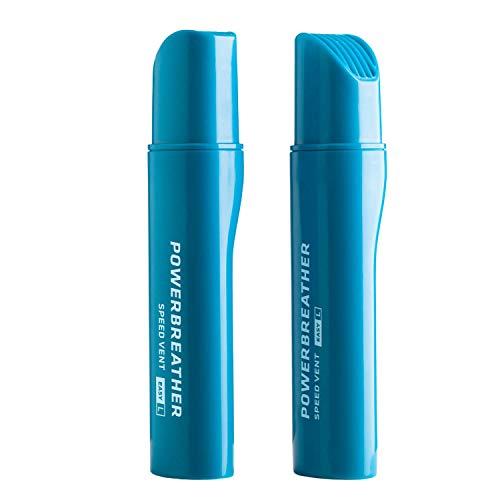 POWERBREATHER Speed Vent Easy L (Blue) - 13,7cm Langer Ventilaufsatz für AMEO Schnorchelset für Freiwasser, Welle, Schnorcheln (Zubehör - Immer frische Luft durch patentierte Ventiltechnik)