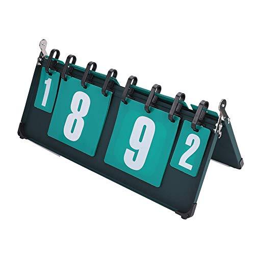 Dirgee Puntuación Deportivo, Puntuación de Puntuación de Competición Deportiva Tablero de puntaje de 4 dígitos for Tenis de Mesa, Bastón de Baloncesto, Voleibol