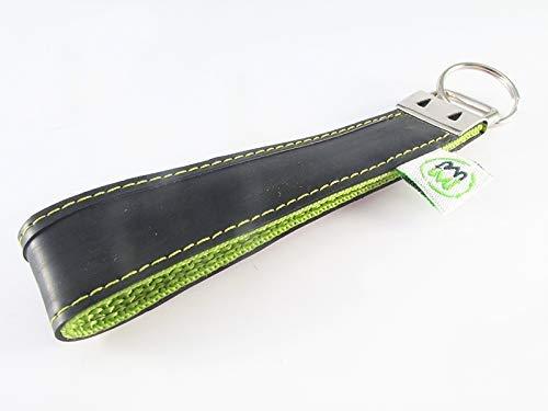 Schlüsselanhänger aus Fahrradschlauch // grün