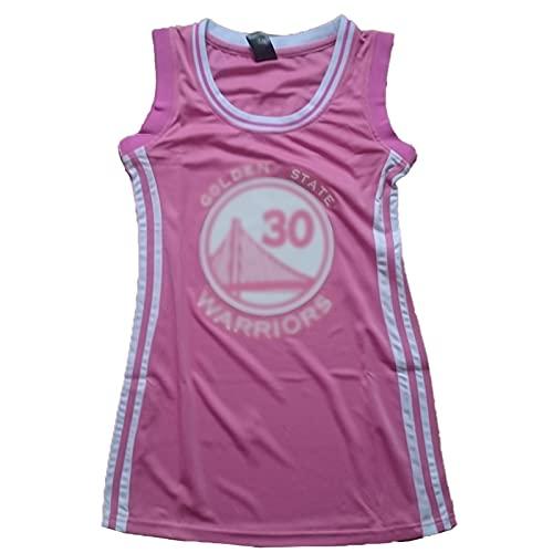 XIAOQSM Vestido De Baloncesto para Mujer # 30, Camiseta De Baloncesto, Camiseta, Chaleco Transpirable Pink-S