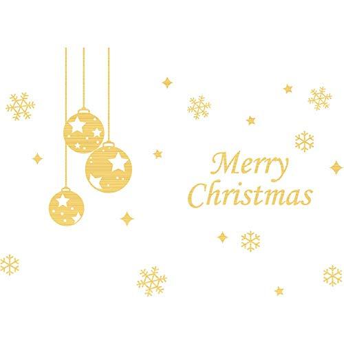 Weihnachten Wandaufkleber Kindergarten Kirchenfenster Glastür Aufkleber Selbstklebend Weihnachtsschneeflockendekoration Set Aufkleber Größe65 * 40Cm