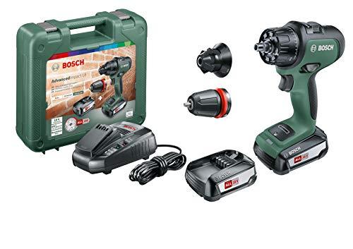 Bosch Akku Schlagbohrmaschine AdvancedImpact 18 (2 Akkus, 18 Volt System, im Handwerkerkoffer)