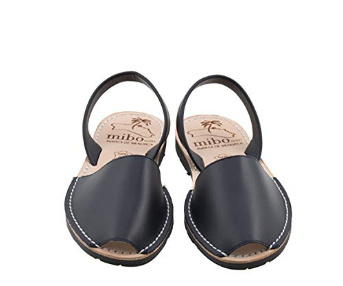 Authentic Avarca Menorquina Sandals Basic Seta Navy - Talla 36 EU