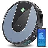 Aspirateur Robot Laveur Connecté Wi-Fi et Alexa Deenkee Aspirateur Autonome Super Fin Silencieux avec 120 Minutes d'autonomie Navigation Intelligente Parfaite pour Poils d'Animaux Sol Dur Tapis