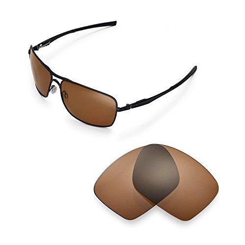 Walleva Ersatzgläser für Oakley Plaintiff Squared Sonnenbrille - Mehrfache Optionen (Braun - polarisiert)