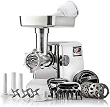 STX Turboforce 3000 Heavy Duty 5-In-1 Powerful Size #12 Electric Meat Grinder • Sausage Stuffer (3 Sizes) • Kubbe Maker • Burger/Slider Maker • 2 Meat Claw Holders • 3 S/S Blades • 4 Grinding Plates