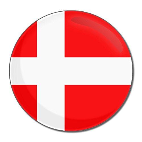Denmark Flag - Miroir compact rond de 77 mm