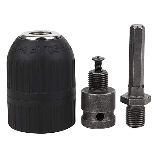 Drill Chuck Electric Hand Tight Clamp Adapter Hammer Conversion Head 2‑13mm 1/2‑20UNF Thread for SDS