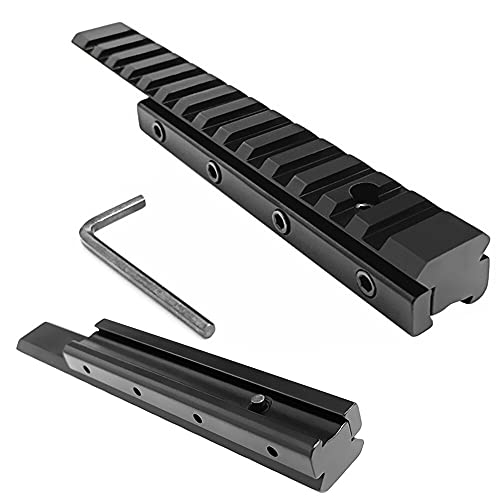 FIRECLUB Tactical Riser 6' Inches Length Dovetail Scope Mount Convert to 20mm Picatinny Weaver Adapter 11mm to 20mm Accessories for Scope Mount Base Hunting