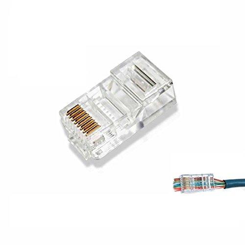 C63® Lot de 25 connecteurs à sertir RJ45 CAT 6