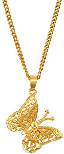 Aluyouqi Co.,ltd Collar Collares con Colgante de Mariposa con dijes pequeños para Mujeres y niñas joyería de Color Dorado Regalos PNG