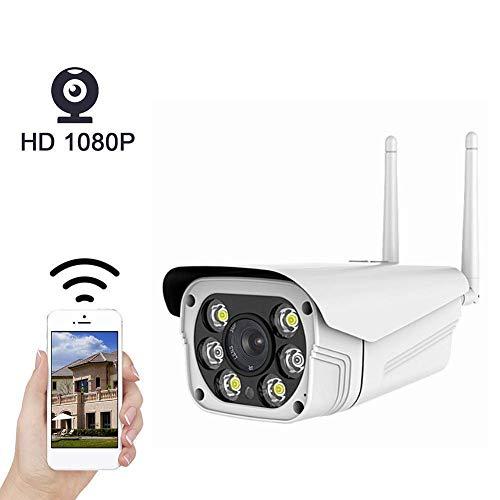 DXX Cámara IP para exteriores Cámara inalámbrica inalámbrica 1080p Ip66 Wifi con audio bidireccional, detección de movimiento, visión nocturna, para iPhone/Android Phone/Ipad/Pc, distancia foca