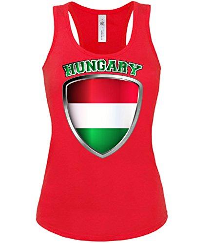 Golebros Ungarn Magyarország Hungary Fussball Fußball Trikot Look Jersey Fanshirt Damen Frauen Mädchen Tank Top Tanktop Fan Fanartikel Outfit Bekleidung Oberteil Artikel