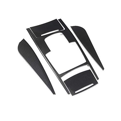 Recorte de marco de coche For Audi A6 C6 2005-2011 Centro de estilo de fibra de carbono Centro Consolaje Mayúsculas de la taza de agua Tapa de la tapa de la tapa del acero inoxidable del acero inoxida