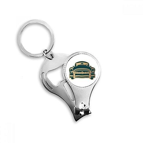 BeatChong Vert Classique Voitures Silhouette modèle Porte-clés Bague d'orteil Coupe-Ongles Outil de Coupe Ciseaux Kit ouvre-Bouteille Cadeau Vert