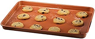 Gotham Steel 1389 Nonstick Copper Cookie Sheet and Jelly Roll Baking Pan 12