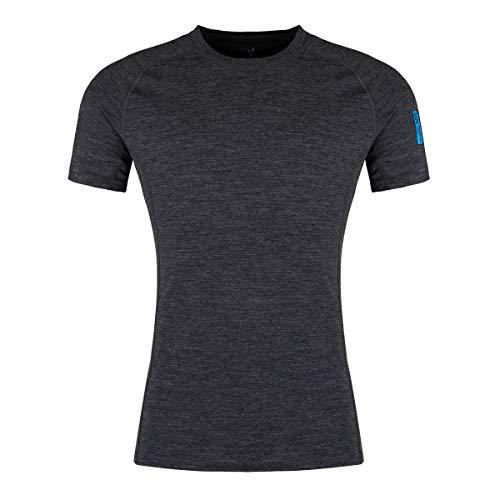Zajo outdoor herenshirt Bjorn korte mouwen functioneel shirt 83% merino wol thermo-ondergoed van merinowol thermo-bovendeel functioneel ondergoed skiondergoed